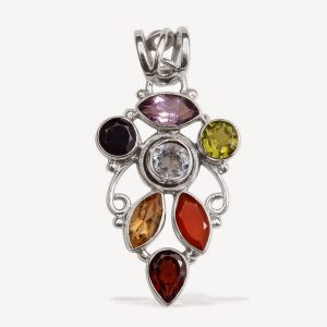 Artisan crafted pendant.