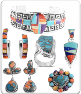 Southwestern style jewelry.
