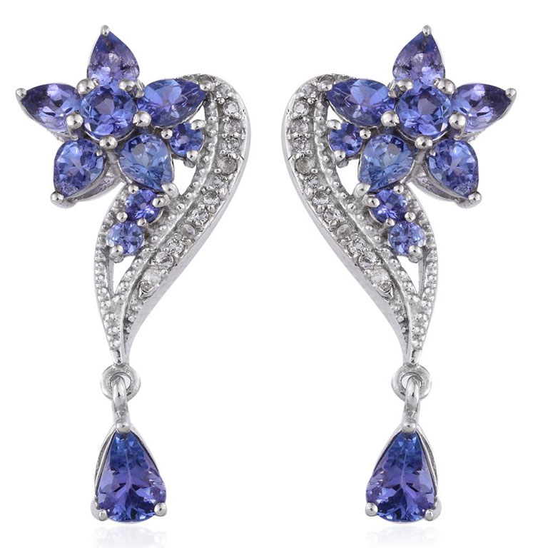Tanzanite earrings make for perfect wedding jewelry.