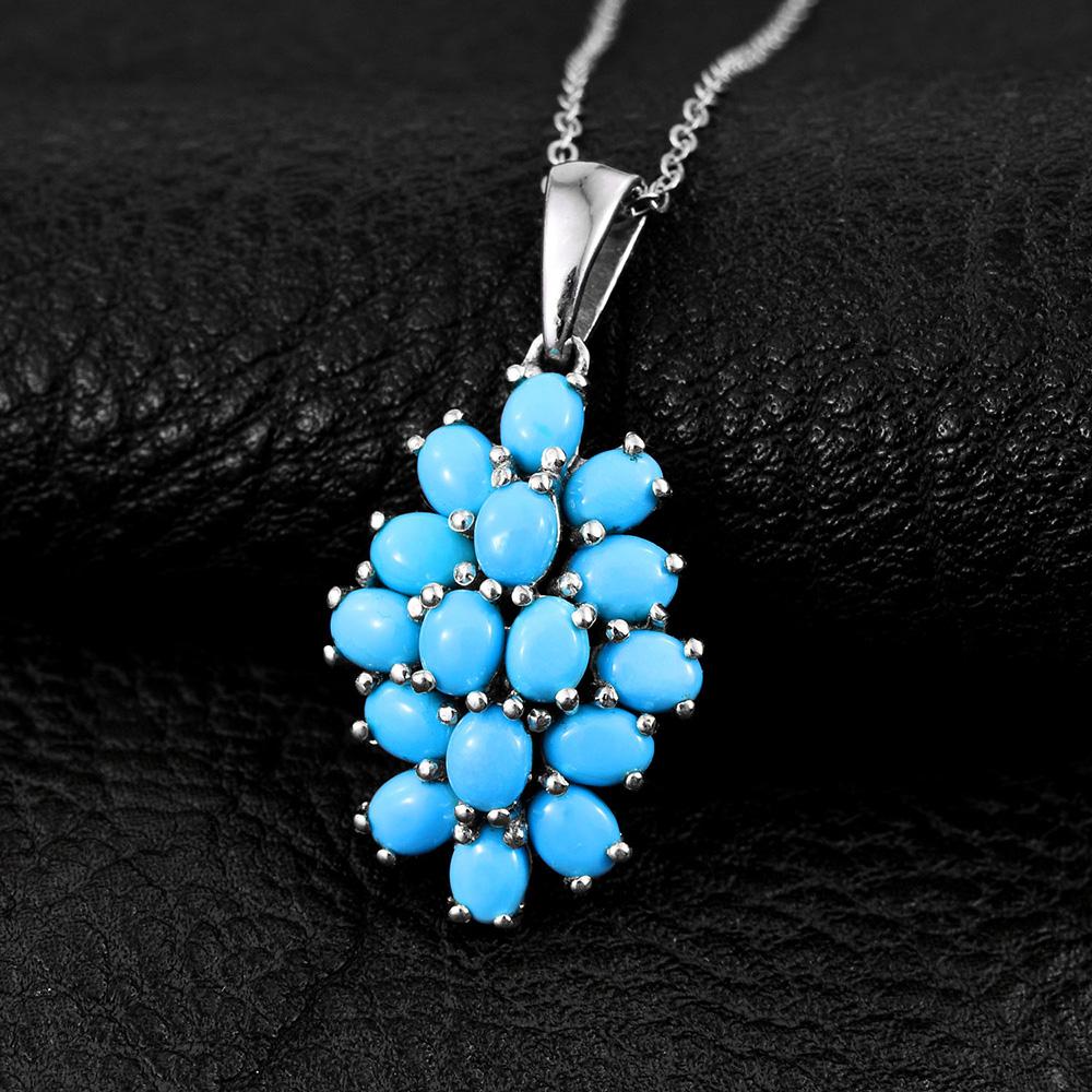 Sleeping Beauty turquoise cluster pendant.