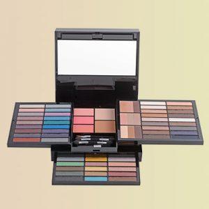 An expansive makeup set.