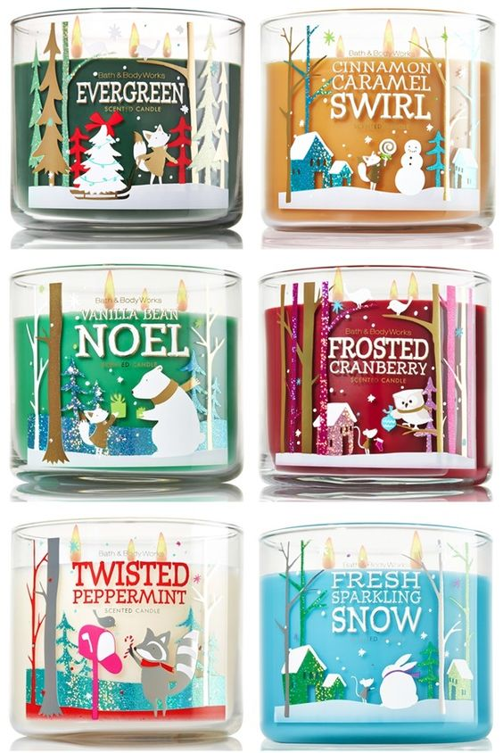 Candles with various scents