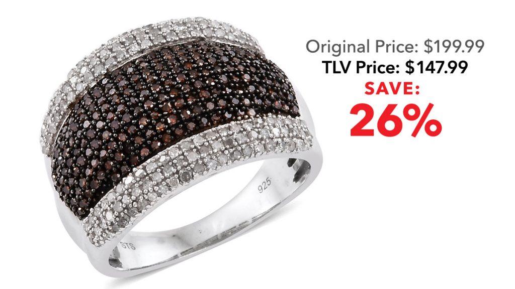Red diamond gemstone ring.