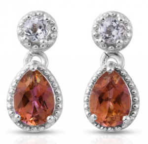 Mystic Topaz earrings.