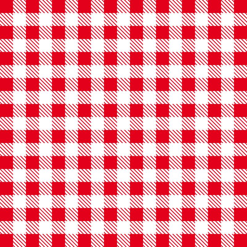 Gingham pattern.