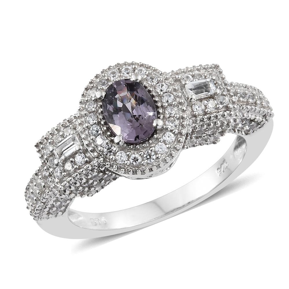 White topaz birthstone ring.