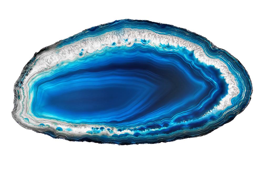 Blue agate slice.