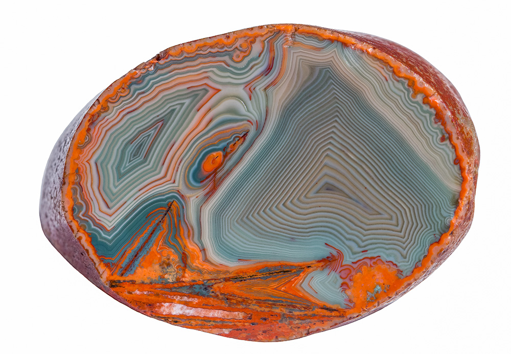 Cross-section of Lake Superior Agate.
