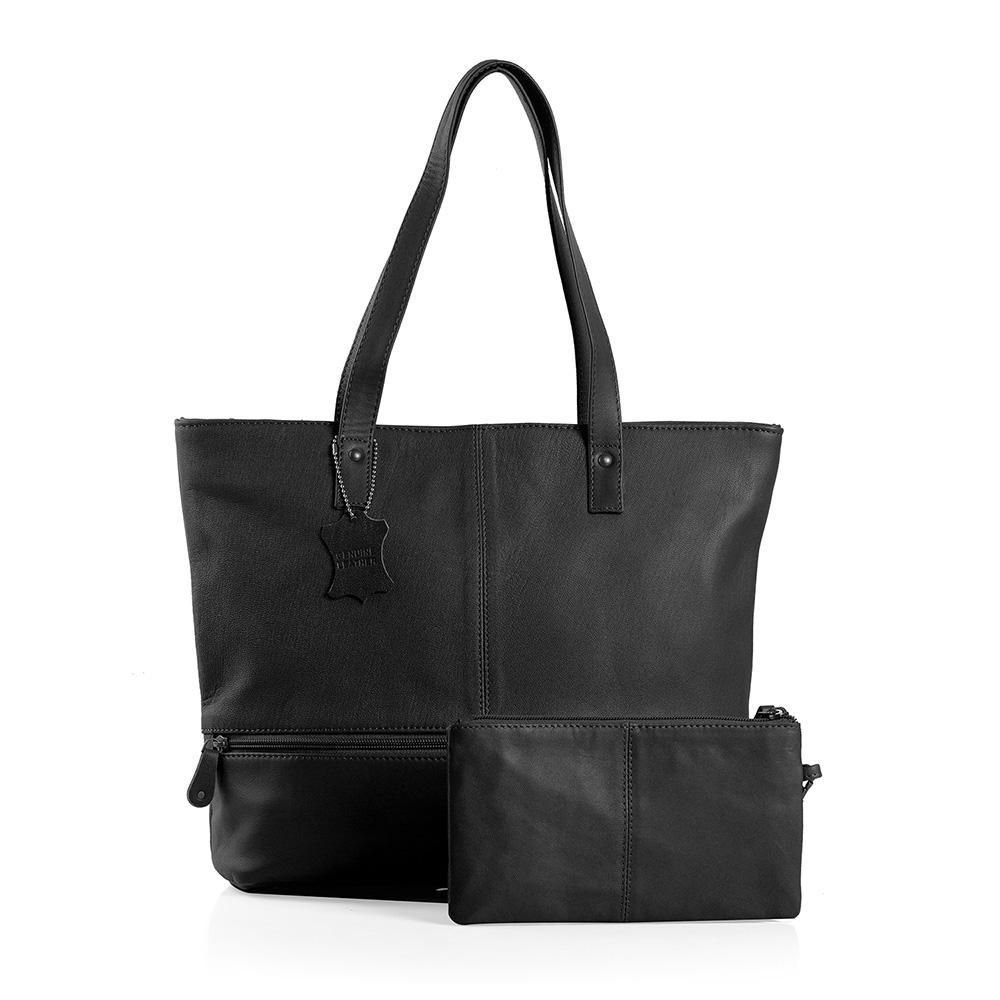 Black professional tote bag.