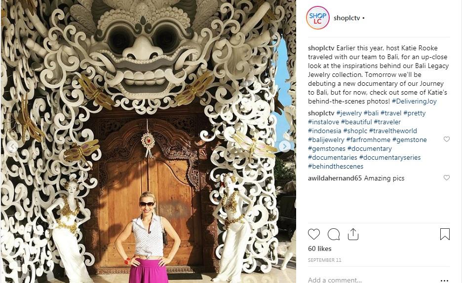 Screenshot of Katie in Bali