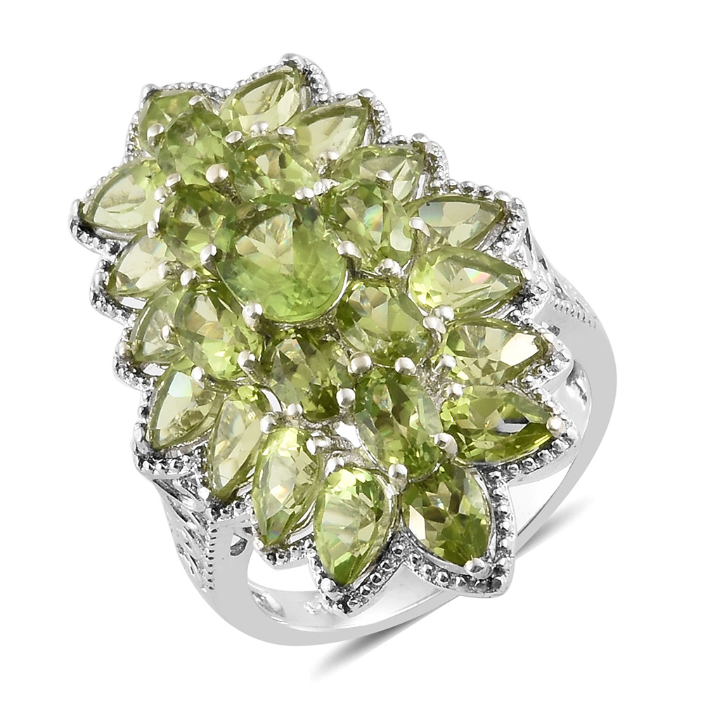 Big and bold green cluster ring