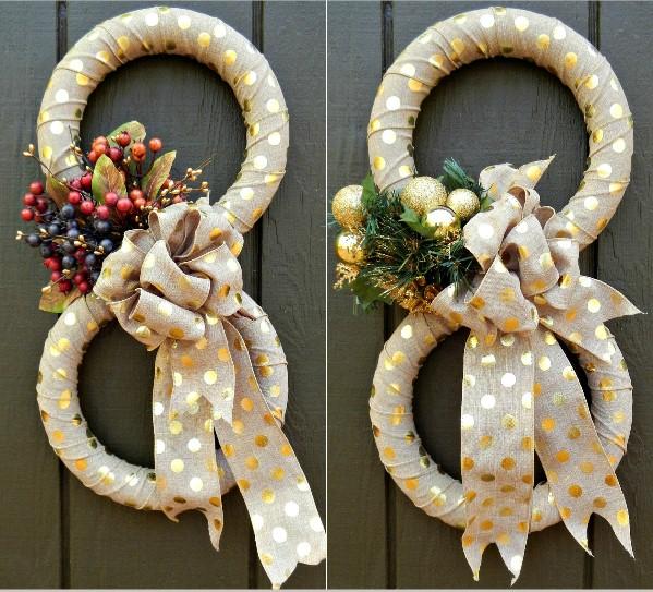 Figure 8 door wreath