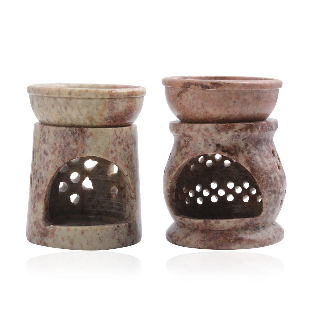 Soapstone oil burner set