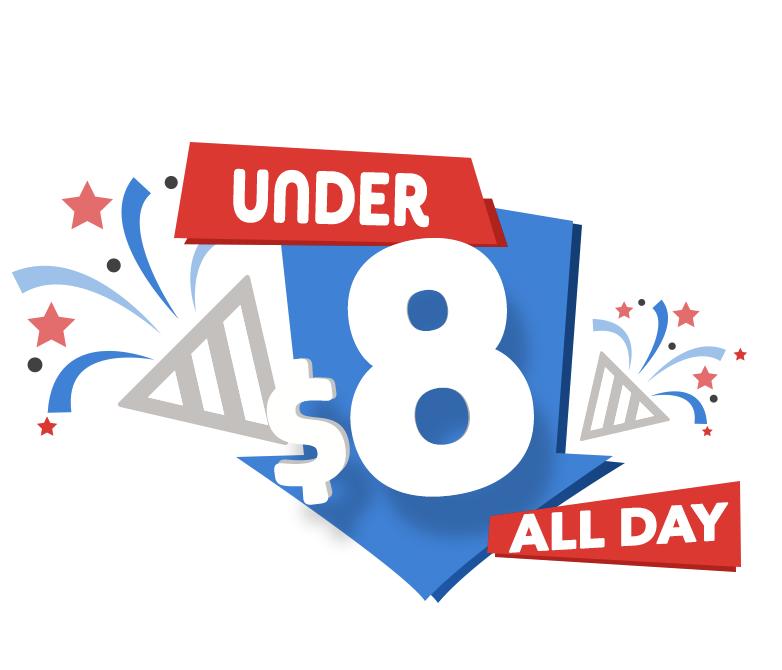 Under $8 Event