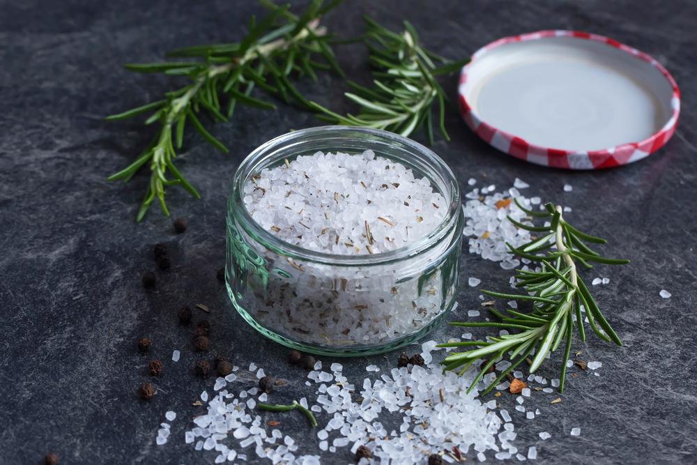 Bath salts in a jar