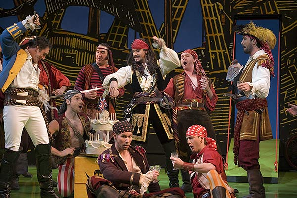 Pirates of Penzance being performed on stage.