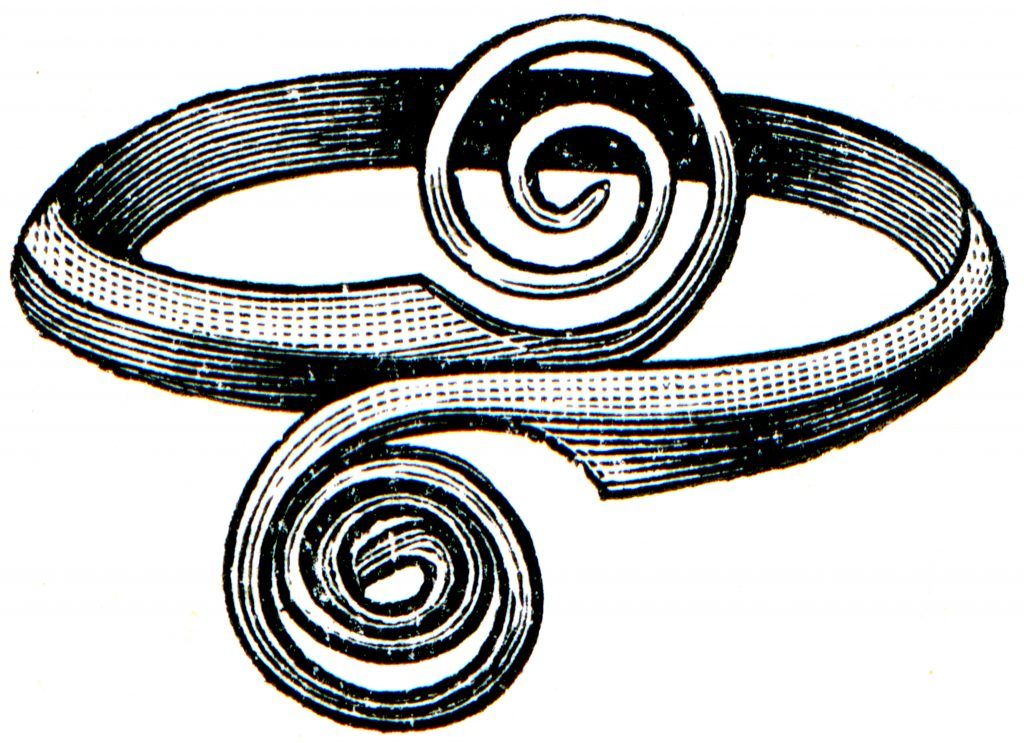 Illustration of Greek ring from the 8th century BCE.