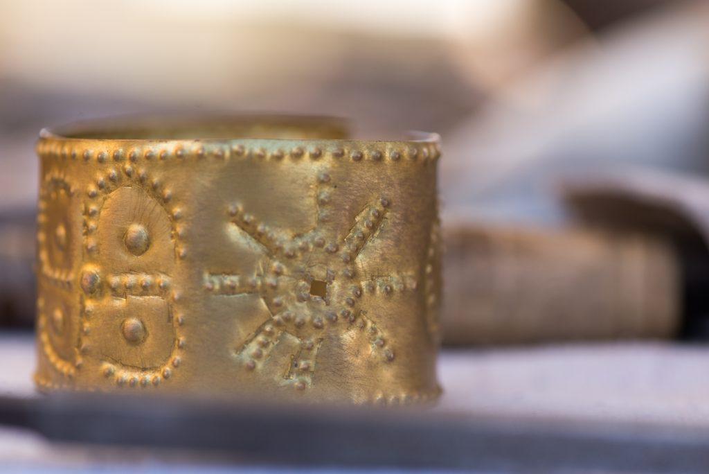 Ancient Roman copper cuff.