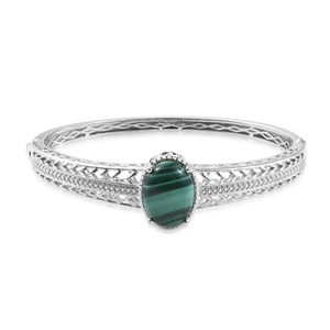 Malachite bangle bracelet.