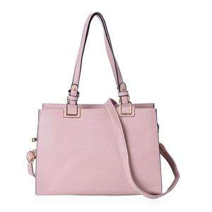 Structured mauve tote bag.
