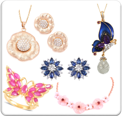 Spring inspired jewelry.