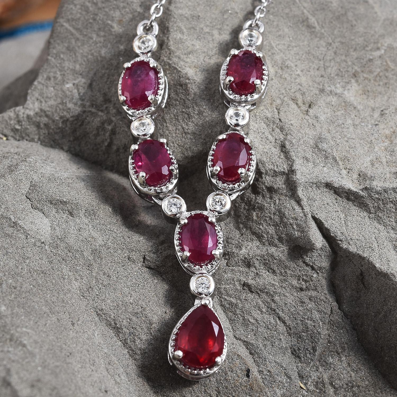 Ruby birthstone necklace.