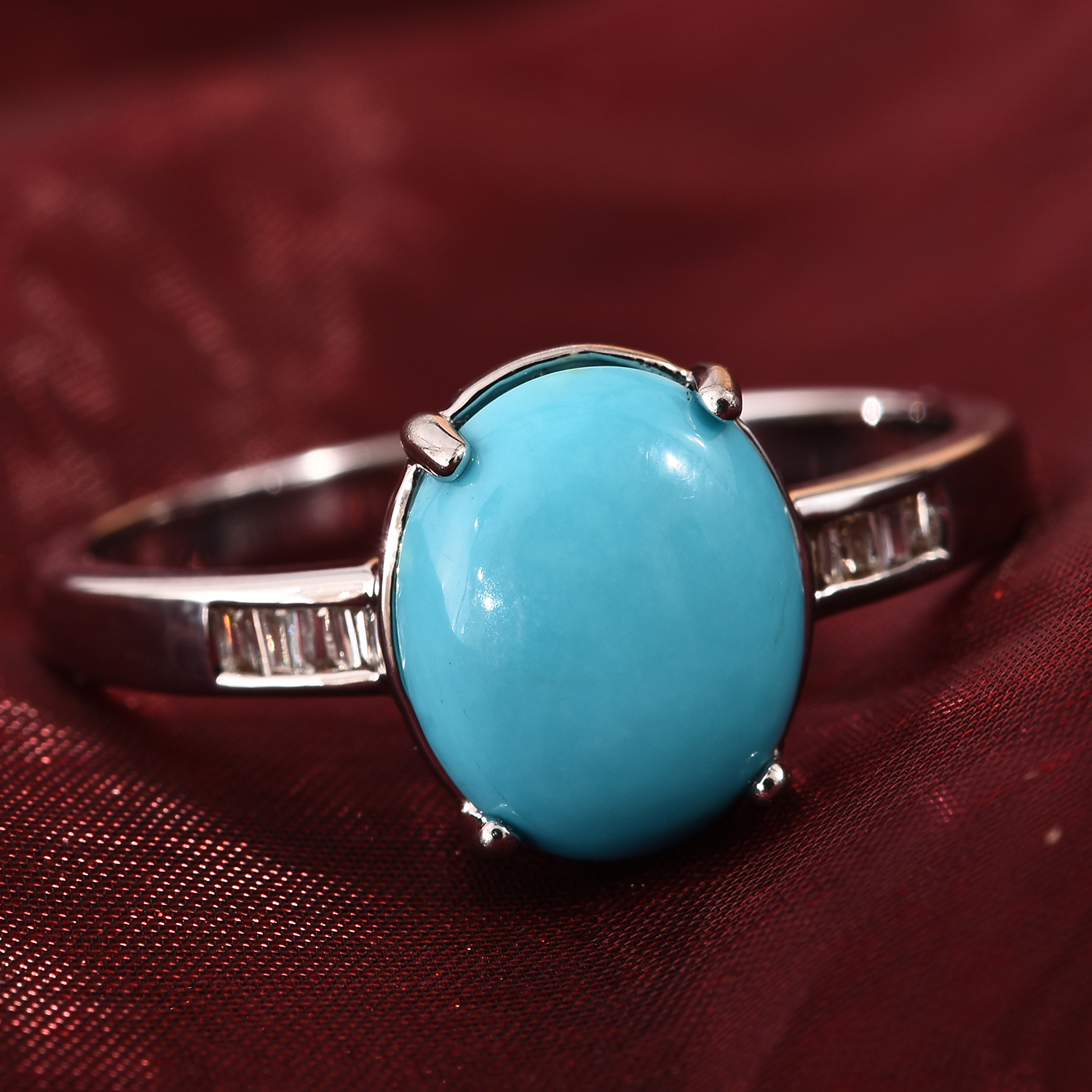 July birthstone turquoise ring.