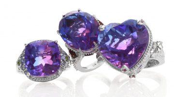 Midnight Fuschia Quartz rings