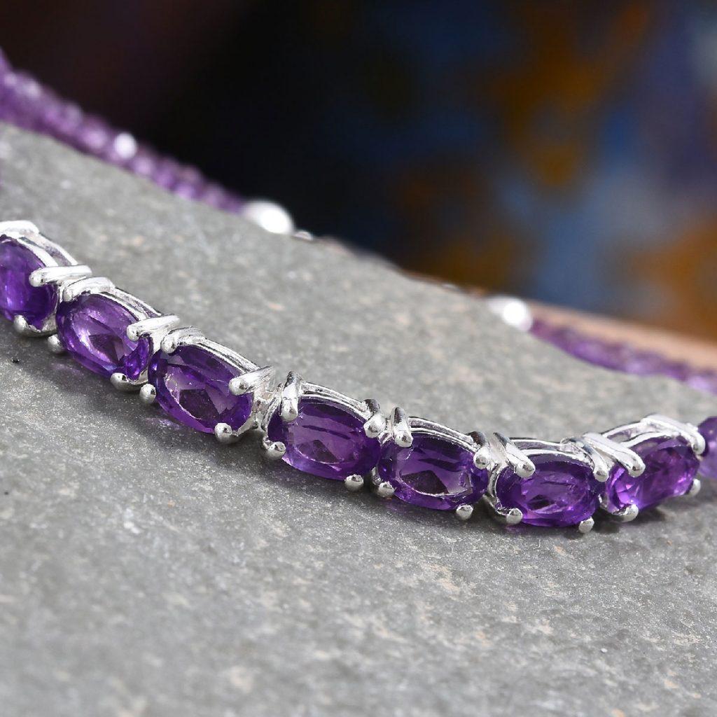 Amethyst Bracelet in Sterling Silver