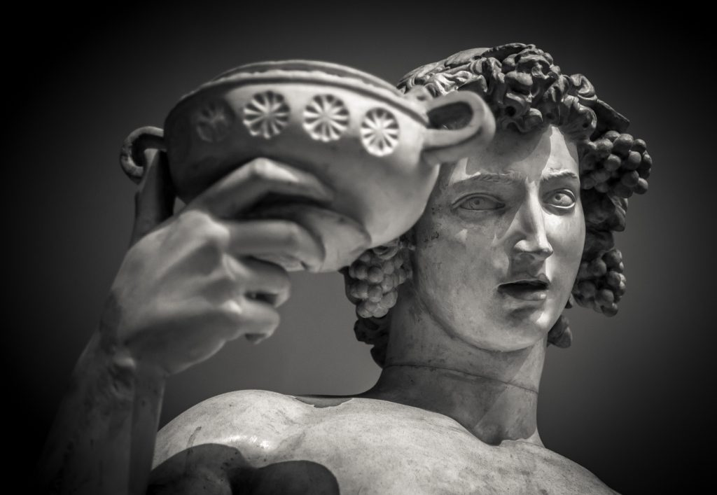 Statue of Bacchus.