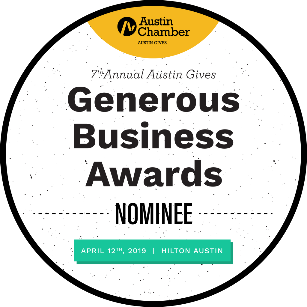 Shop LC nominated for the Austin Gives Generous Business Awards.