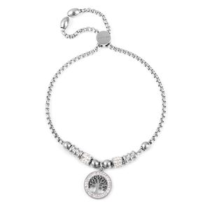 Tree of Life charm bracelet with bolo slide closure.