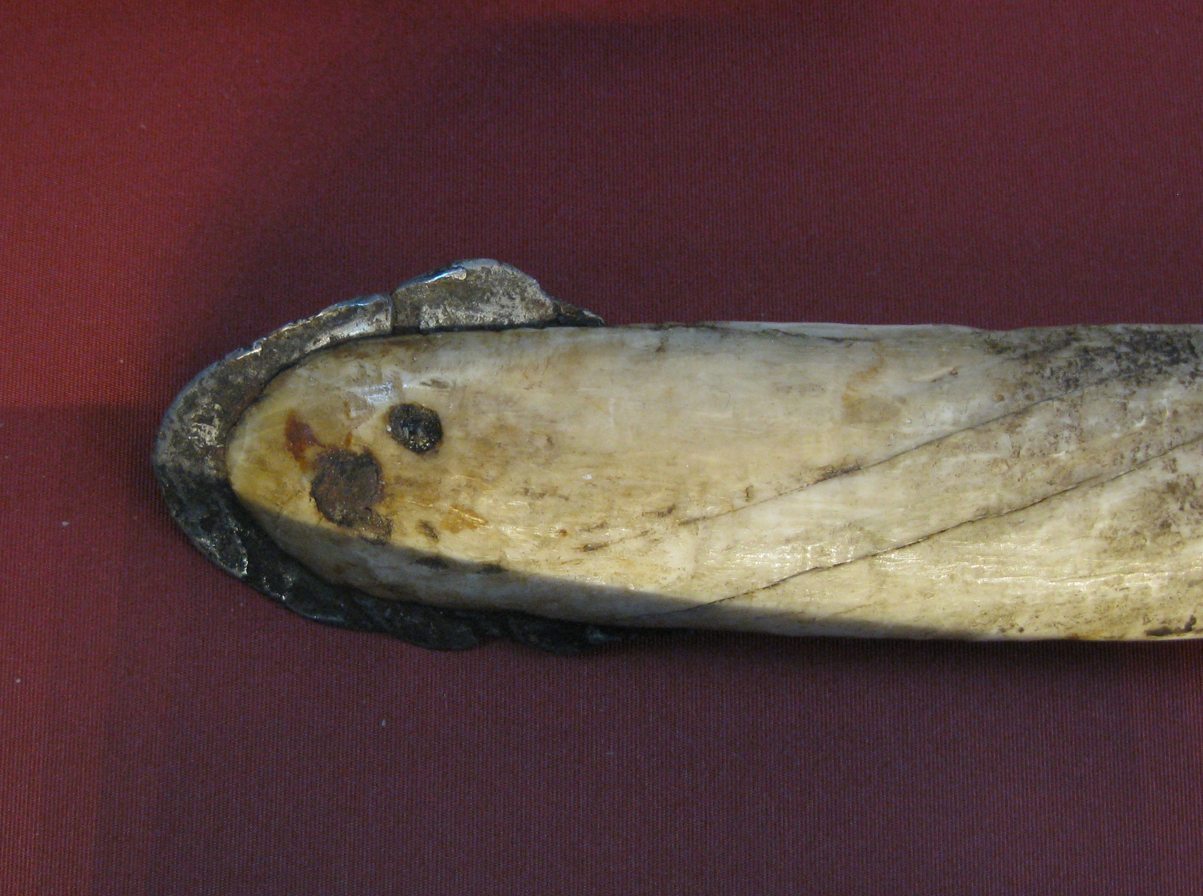 Ivory lance tipped with meteoric iron.