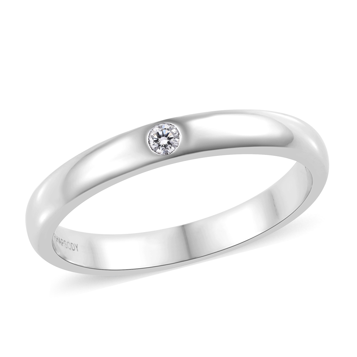 Rhapsody diamond men's ring in platinum.