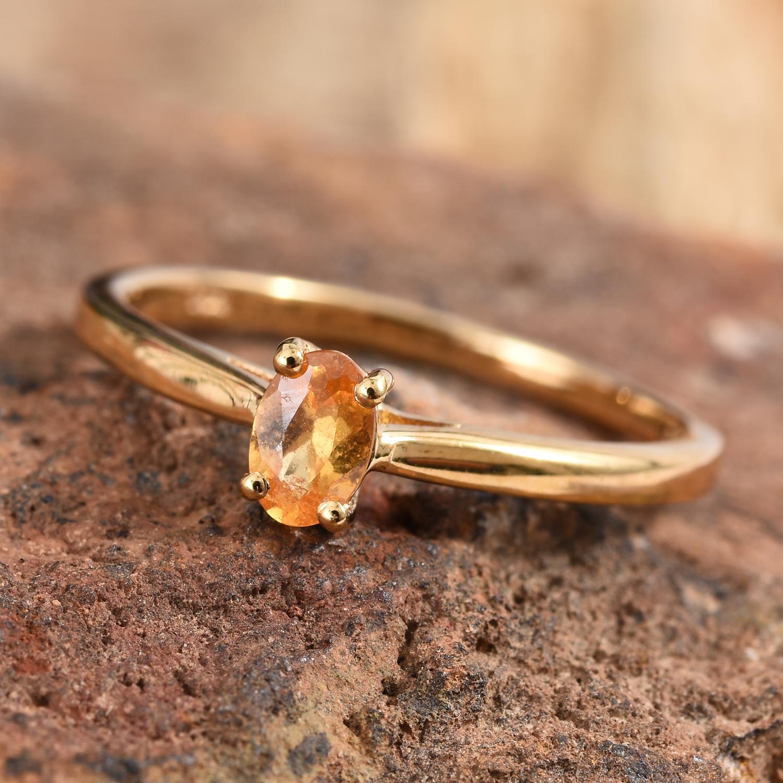 Spessartine garnet ring with vermeil finish.