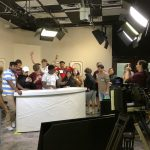 Round Rock High School students touring the Shop LC studio.