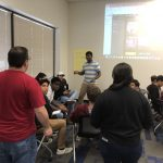 Round Rock High School students attending Shop LC lecture on business practices.
