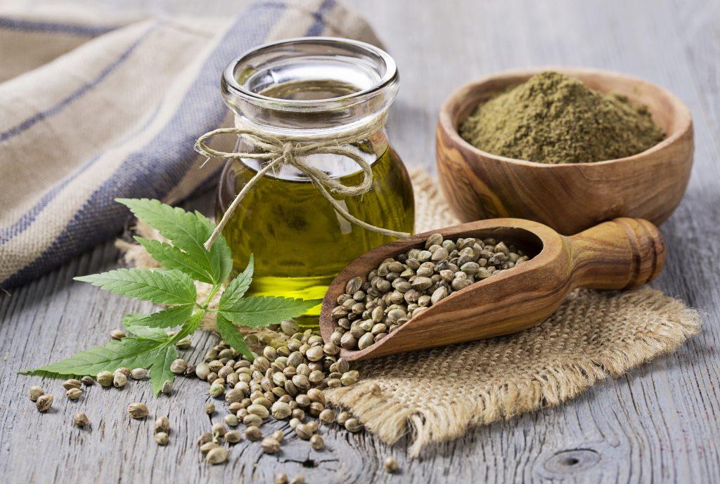 Hemp seeds and hemp oil.