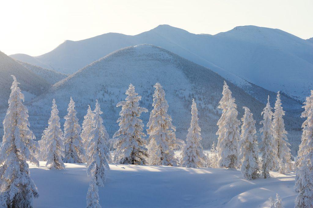 Rural Sakha during winter.