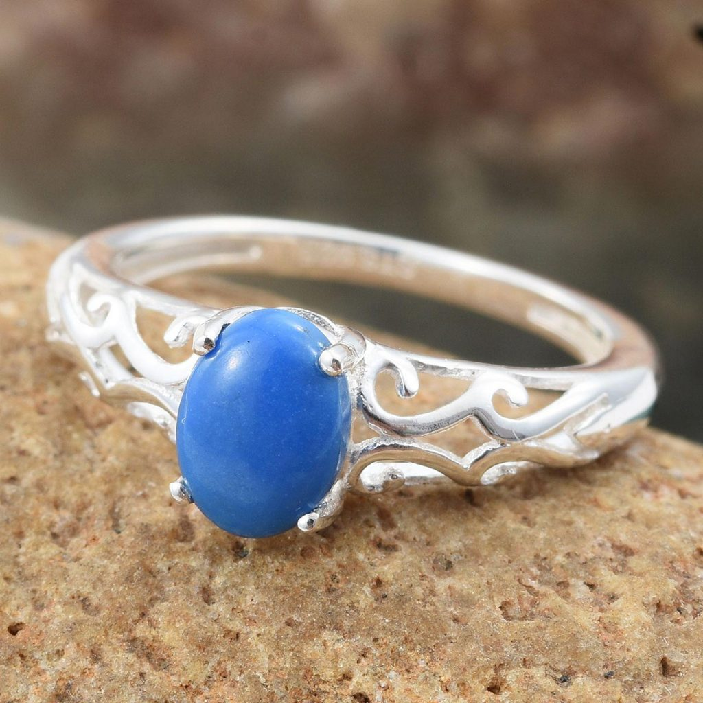 Ceruleite Ring in Sterling Silver