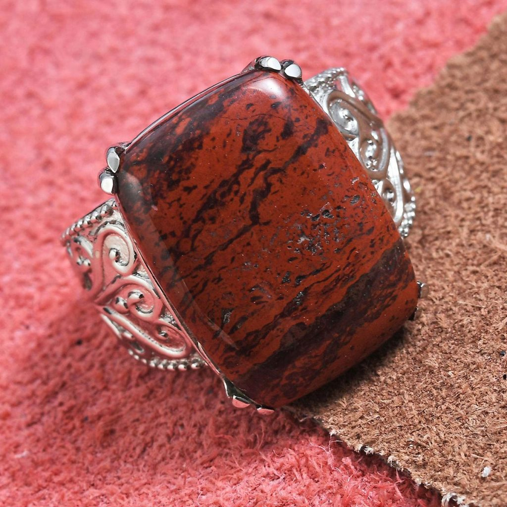 Red Jasper Ring in Sterling Silver