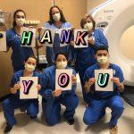 Healthcare workers from Santa Rosa Medical Center, San Antonio.