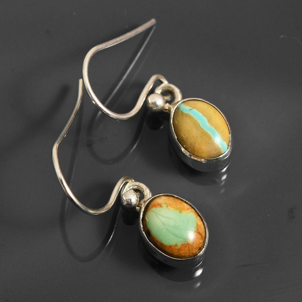 Royston Turquoise Earrings in Sterling Silver