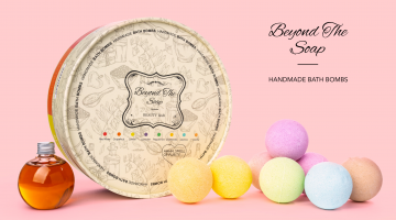 Beyond the Soap Set of 8 Bath Bombs Gift Set.