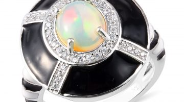 GP Collection opal and enamel ring.
