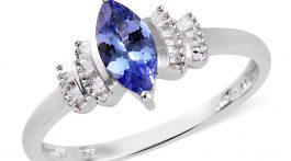 Tanzanite and diamond ring.